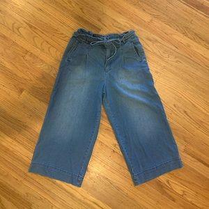 Pilcro Letterpress wide leg crop pants